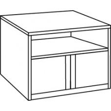 Homestead Media Stand w/2 Doors, Shelf Behind Doors & Top Shelf
