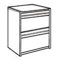 Homestead Desk Pedestal w/2 Equal Size Drawers