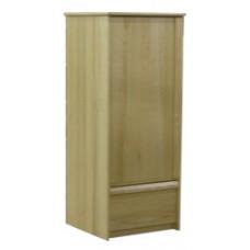 "Homestead Single Door Wardrobe w/1 Bottom Drawer & Clothes Rod, 60""H"