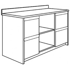 """Homestead Media Cabinet w/4 Drawers & 2 Open Compartments, 48""""W"""