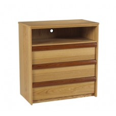 """Homestead Media Chest w/3 Drawers & 1 Top Open Compartment, 30""""W"""