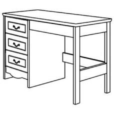 "Madison Open Leg Pedestal Desk w/3 Equal Drawers & Pencil Drawer, 42""W"
