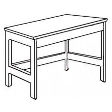"""Shaker Open Leg Study Desk w/Pencil Drawer, 42""""W"""