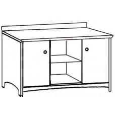 Shaker Media Chest w/2 Doors, 1 Fixed Shelf & 1 Adjustable Shelf