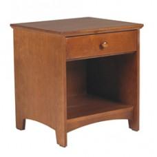Shaker Desk Pedestal w/Top Drawer & Open Compartment