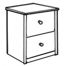 Shaker Desk Pedestal w/Two Equal Drawers