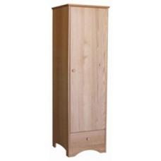 "Shaker Single Door Wardrobe w/1 Bottom Drawer & Clothes Rod, 24""W, 60""H"