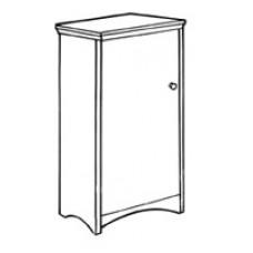 "Shaker Single Door Wardrobe w/Interior Shelf & Clothes Rod, 24""W, 60""H"