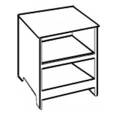 Shaker Desk Pedestal w/Two Open Compartments