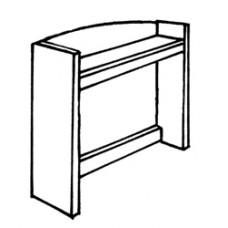 """Shaker Single Shelf Carrel w/Open Back, 36""""W"""