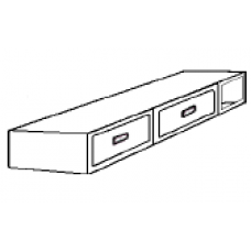 """Woodcrest 2 Drawer Under Bed Unit w/Open Compartment, Extra Heavy Duty, 80""""W"""