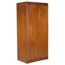 "Woodcrest Double Door Wardrobe w/Interior Shelf & Clothes Rod, 42""W, 78""H"