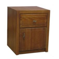 Woodcrest Nightstand w/Top Drawer & Compartment Door