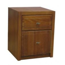 Woodcrest Desk Pedestal w/1 Box & 1 File Drawer