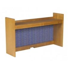 "Homestead Single Shelf Carrel w/Closed Back, 45""W"