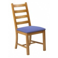 Ladder Chair w/Upholstered Seat & Wood Back