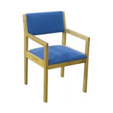 Metro Arm Chair w/Upholstered Seat & Back