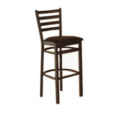 Sedona Bar Height Metal Stool w/Upholstered Seat