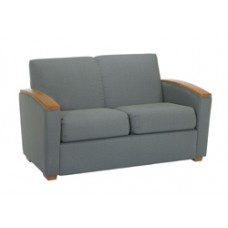 Belair Settee with Wood Arm Caps
