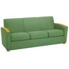 Belair Sofa w/Wood Arm Caps