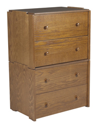 "Shaker 2 Drawer Stackable Chest, 30""W"
